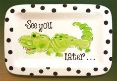 See You Later...Hand & Footprint turned into Alligator. Very Cool.