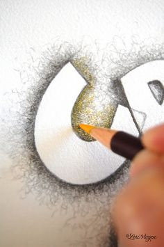 Have students add scribbly lines (or other forms of mark making) to add depth and texture to a word/name. Talk about texture, line weight, negative space...