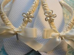 Beach Wedding Shoes, Bridal flip flops