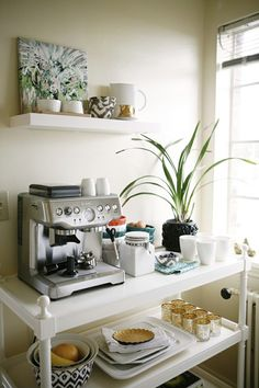 cappuccino corner - reminds me of the home we stayed in in germany, a great idea for the dining room!