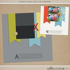June 2012 Template FREEBIE + Challenge | Sahlin Studio | Digital Scrapbooking Designs