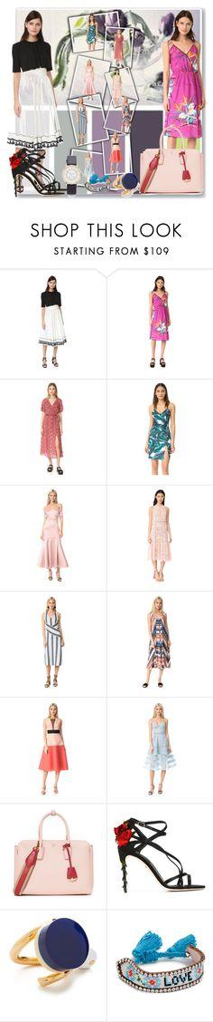 """Chic in Midi Dress!!"" by stylediva20 ❤ liked on Polyvore featuring Rossella Jardini, Marc Jacobs, MINKPINK, StyleStalker, Temperley London, Rebecca Taylor, Edun, Lela Rose, self-portrait and MCM"
