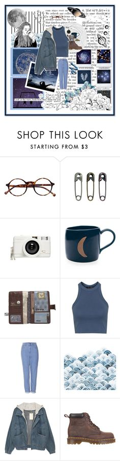 """You're a sky full of stars ✨"" by blueskiesahead ❤ liked on Polyvore featuring Forum, Retrò, Lomography, Topshop and Dr. Martens"
