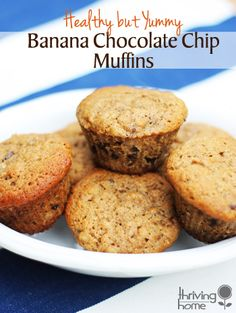 These muffins will become a new staple in your house. They have a delicate combination of healthy ingredients with just a touch of sweetness from the chocolate chips.