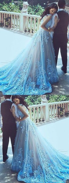2018 Wedding Dress, Sleeveless Wedding Dress, Wedding Dress A-Line, Cute Wedding Dress, Blue Wedding Dress Wedding Dresses 2018 Wedding Dress Train, Wedding Dresses For Sale, Princess Wedding Dresses, Perfect Wedding Dress, Tulle Wedding, Cheap Wedding Dress, Bridal Dresses, Prom Dresses, Wedding Gowns
