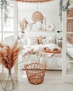 Cute Bedroom Decor, Cute Bedroom Ideas, Room Design Bedroom, Room Ideas Bedroom, Bedroom Inspo, Bedroom Inspiration Cozy, Ikea Boho Bedroom, Neutral Bedroom Decor, White Bedroom