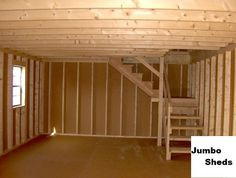 two story shed plans | Price with all features including delivery is $12,895. Call Tom at 804 ...