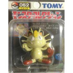 "Pokemon 2004 Meowth Tomy 2"" Monster Collection Plastic Figure #052"