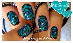 Hypnotic Swirl Halloween Nails   Spiral Nail Art ♥