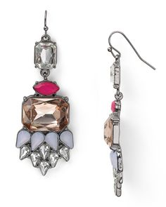 Aqua Frosted Deco Drop Earrings - Earrings - Jewelry - Jewelry & Accessories - Bloomingdale's