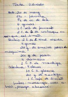 Culinaria  -_livro_de_receitas Jam Cookies, Portuguese Recipes, Kefir, Vintage Recipes, Other Recipes, Diet Recipes, Good Food, Food And Drink, Cooking