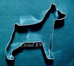 DOBERMAN COOKIE CUTTER Birthday Sugar Cookies. Min Pin Minature Pinscher Dog. Dobermann. Dobe.  Dog Biscuits. Treats. Hand Soldered
