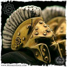 Starlingear Bead: Spartan Up Armored 2013 - Copper/Silver