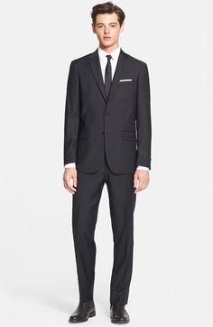 John Varvatos Star USA Trim Fit Stripe Suit available at #Nordstrom