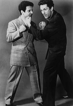 """Publicity shot of Robert De Niro & Joe Pesci for ""Raging Bull"" Martin Scorsese, Don Draper, Joseph Morgan, Robert Downey Jr, Mafia, Movie Stars, Movie Tv, 1980s Films, Top Film"