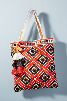 Nice color combination. Shop the Tamati Tote Bag and more Anthropologie at Anthropologie.