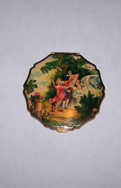 Vintage ''Stratton'' Brass Compact England Victorian Gold Ornate Powder | eBay