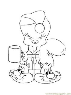 Free Printable Coloring Page Tweety Bird 04 Cartoons