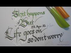 Pilot Parallel Pen Calligraphy : 캘리그라피 ③ - YouTube