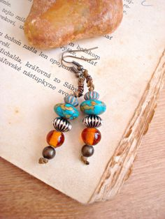 Boho Earrings  Handmade Earrings  Gypsy by HandcraftedYoga on Etsy, $24.00