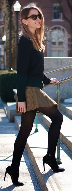 Gold Skirt Streetstyle by Heels On Gasoline