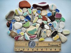 'TROPICAL MELODY' - Sea Beach Pottery iDeas by OdysseySeaGlass, $10.95 - 65 pieces