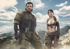 Venom Snake and Quiet from MGSV: The Phantom Pain. Hope you like it XPS Models + + Photoshop The Phantom Pain Metal Gear V, Metal Gear Solid Quiet, Snake Metal Gear, Metal Gear Games, Metal Gear Solid Series, Hack And Slash, Geralt And Ciri, Metal Meme, Mgs V
