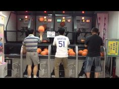 This arcade basketball player will shock you! - Watch what he does when his time runs out!