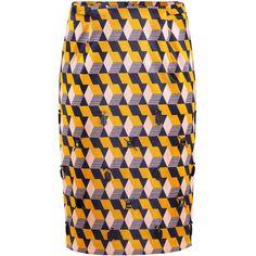 H&M Pencil skirt (4.215 RUB) ❤ liked on Polyvore featuring skirts, h&m, bottoms, faldas, saia, knee length pencil skirt, print skirt, beaded skirt und beaded pencil skirt