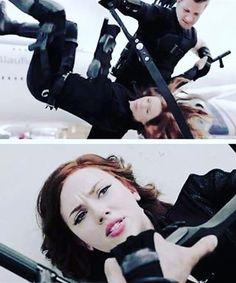...will we still be friends? Depends on how hard you hit me!... #Hawkeye #NatashaRomanoff #CaptainAmericaCivilWar