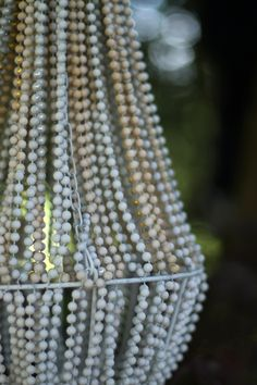 make a beaded chandelier...this could be fun with different textures and coverings