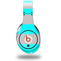 Neon Beats | Stripes Neon Teal and Gray Decal Style Skin (fits ORIGINAL Beats ...