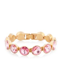 The On Point Flex Bracelet is designer jewelry that belongs in every Bendel Girl's assortment of fashion accessories. Crafted with plated brass, this must-have luxury jewelry dazzles with alluring clear or colored crystals.