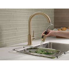 You'll love the Trinsic® 15 Single Handle Deck Mounted Kitchen Faucet at Wayfair - Great Deals on all Kitchen & Dining products with Free Shipping on most stuff, even the big stuff.