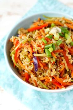 Quick and easy fried rice is full of delicious colorful veggies and tons of flavor! Gluten free and vegan recipe - perfect for busy weeks.