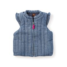 Zip up this vest over long-sleeved tops and tees for an extra layer of warmth and style.