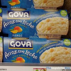 Sin Gluten, Yummy Snacks, Yogurt, Mango, Dairy, Rice, Pudding, Products, Arroz Con Leche