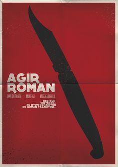 Minimal Turkish movie posters by Oğuzcan Pelit, via Behance