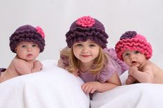 TWIN Baby Girl Ruffle Diaper Cover and Hat Sets by pixieharmony, $108.95