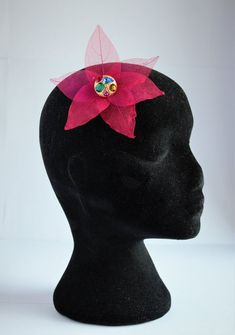 Delicate Fushia Pink Skeleton Leaf Hairpiece, Hairclip, Fascinator Hey, I found this really awesome Leaf Flowers, Flowers In Hair, Fushia Pink, Special Occasion Outfits, Flower Hair Clips, Bridal Hair Accessories, Bridal Looks, Hair Pieces, Rainbow Colors