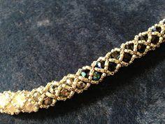 Perleaqua » Bracelet Bangle en facettes et delica 11/0