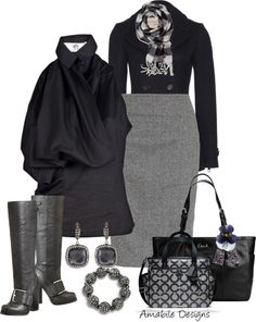"""""""Navy and Grey work wear"""" by amabiledesigns on Polyvore"""