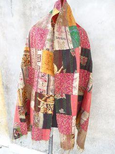Silk Kantha Scarves,vintage Kantha Silk Scarve, Handmade Silk Scarf, Silk 105