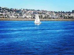 Lone sailboat on San Diego bay  #sailing #sailboat #sandiegobay #sundayfun by gelgirl54