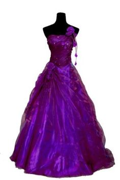 Faironly Purple One Shoulder Prom Gown Party Dress:Price: $69.00 love love love