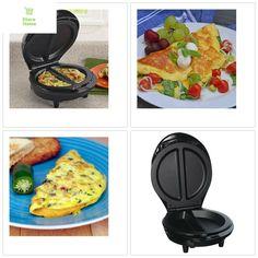 Electric Omelette Maker Egg Black Copper Chef Pan Machine Kitchen Non stick UK