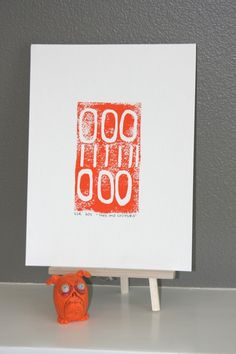Love this orange linocut print, srajab1