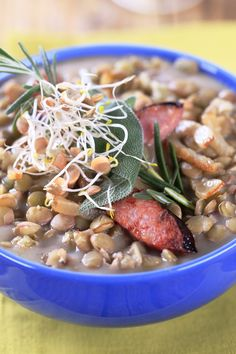 Spinach Lentil Soup Recipe with Rice and Turkey Sausage