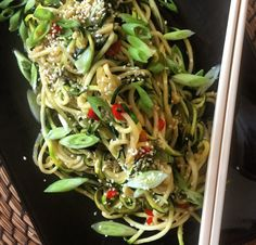 Szchuan-Style Sesame Zoodles  Gluten Free, Dairy Free, Vegan, Paleo & Whole 30.   Check out the recipe on www.thewonkyspatula.com