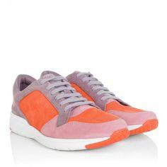 Gucci Sneakers – Queen Suede Sneaker Tricolor Pink/Orange/Argy – in bunt – Sneakers für Damen